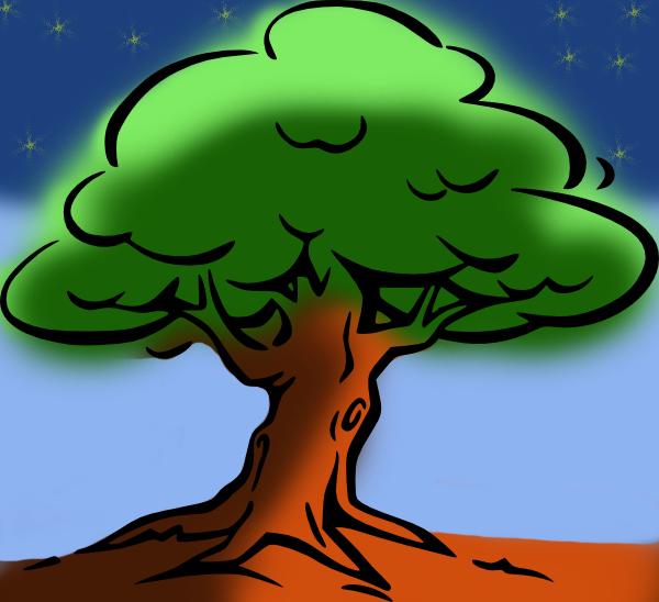 Tugas 9 Mewarnai Pohon Dengan Tumpukan Layer Mata Co